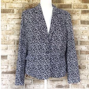 Charter Club Lined Black And White Blazer Size 16